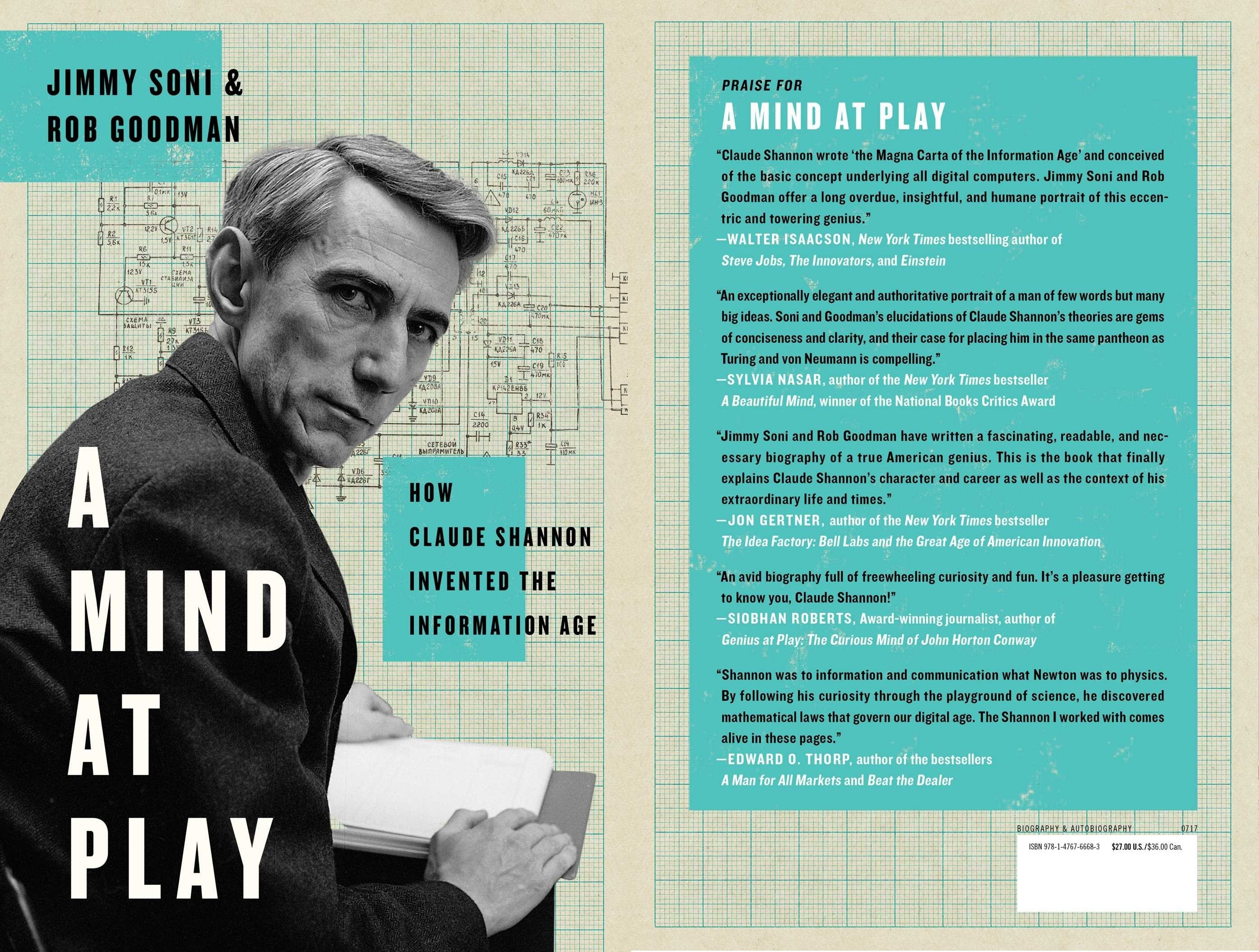 "A Book Talk about ""A Mind At Play: How Claude Shannon Invented The Information Age"""