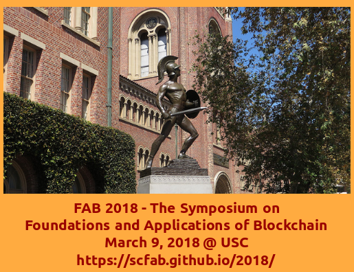 Symposium on Foundations and Applications of Blockchain 2018 (FAB '18)