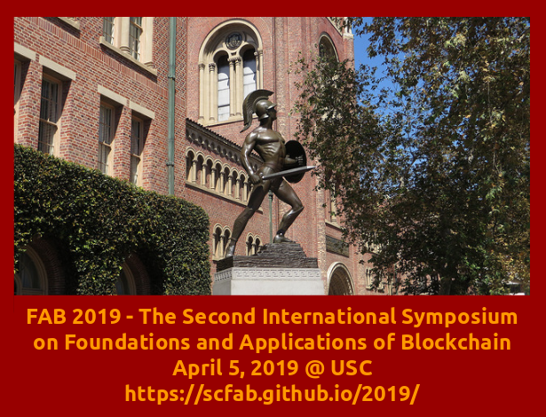 Second International Symposium on Foundations and Applications of Blockchain 2019